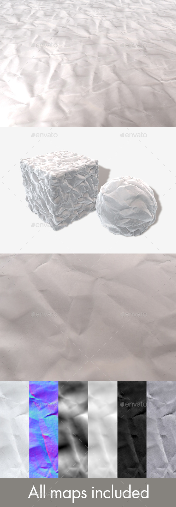 Crumpled Paper Seamless Texture - 3DOcean Item for Sale