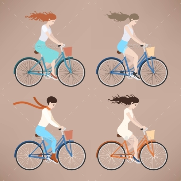 Girl On Bike - Sports/Activity Conceptual