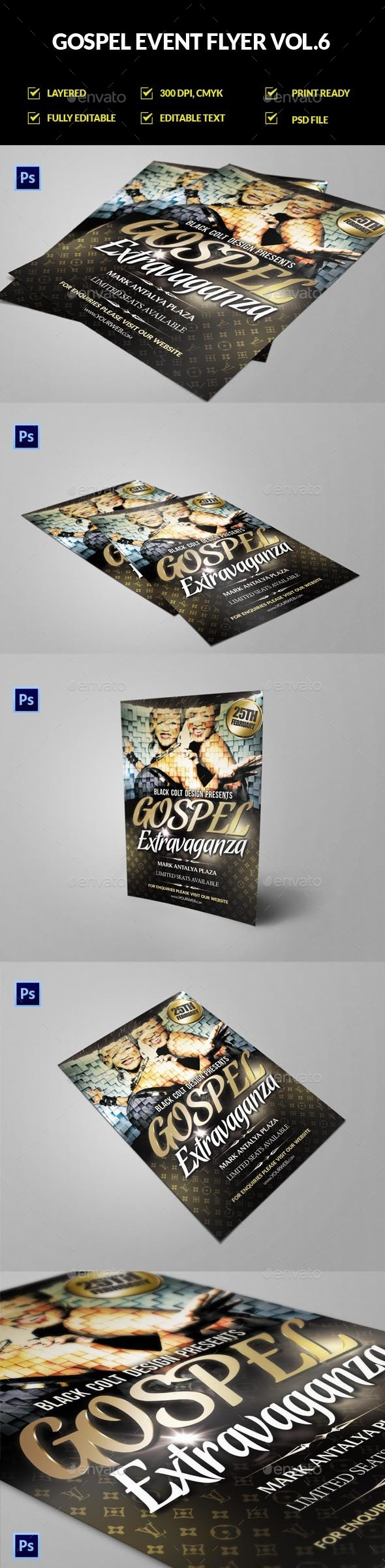 Gospel / Church Event Flyer Vol.6 - Church Flyers