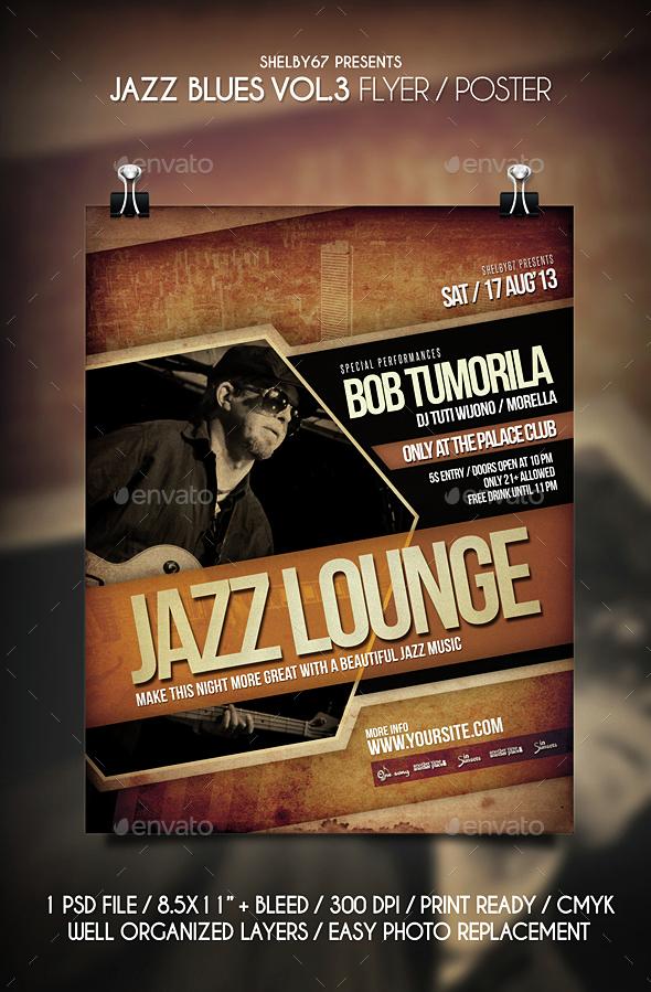 Jazz Blues Flyer / Poster Vol 3 - Events Flyers