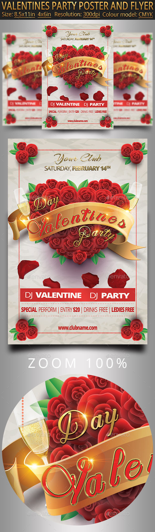 Valentines Party Poster And Flyer