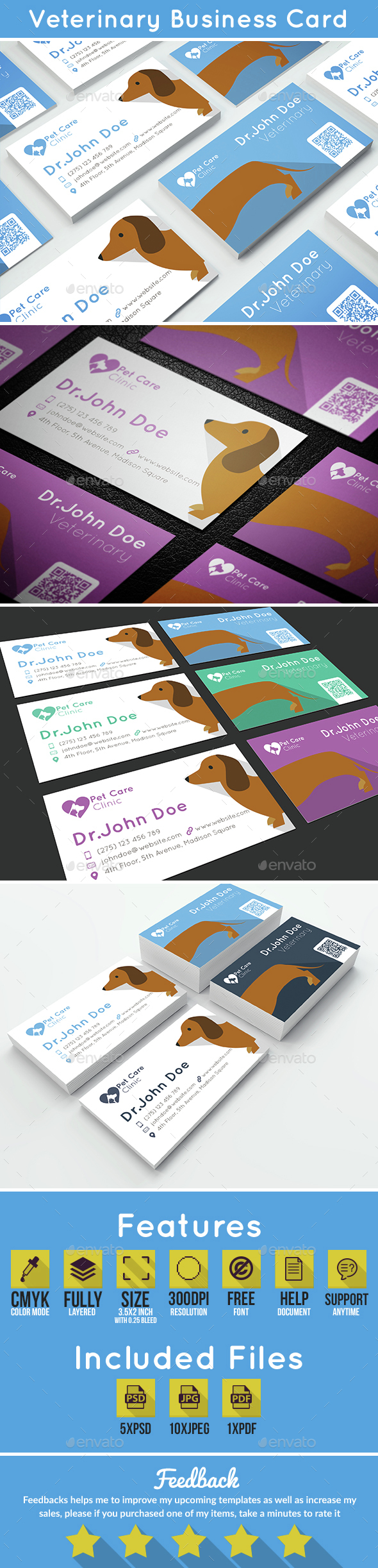 Veterinary Business Card - Industry Specific Business Cards