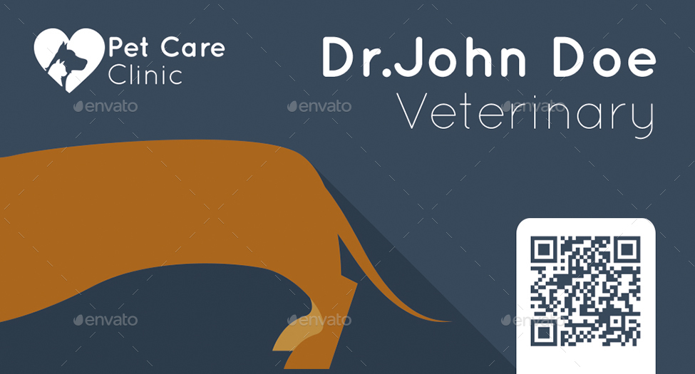 Veterinary business card by mmounirf graphicriver veterinary business card colourmoves