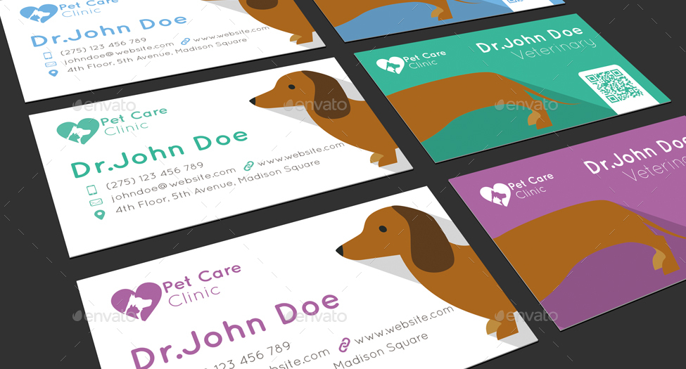 Veterinary Business Card By Mmounirf Graphicriver