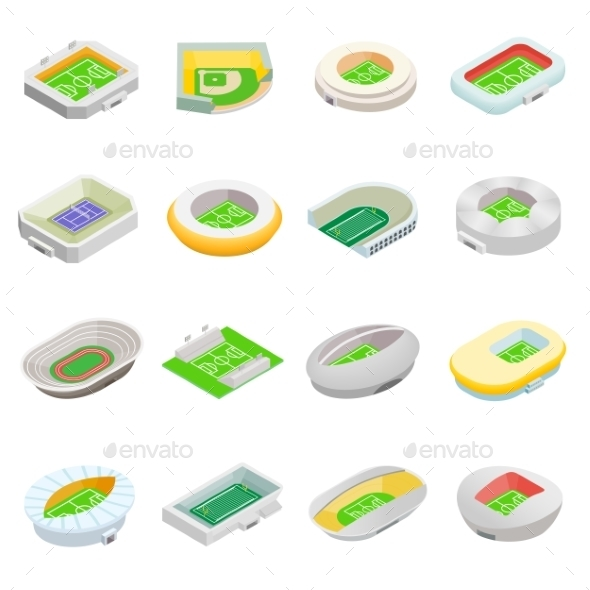 Stadium Isometric 3d Icons - Miscellaneous Icons