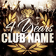 Anniversary Club Flyer - GraphicRiver Item for Sale