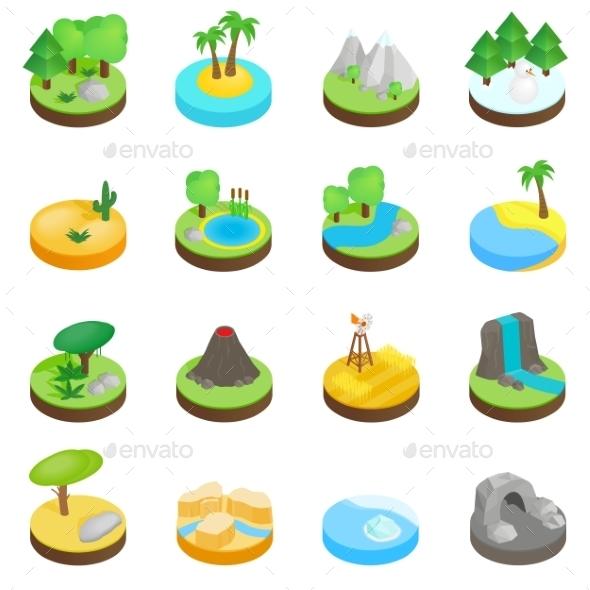 Landscape Isometric 3d Icons - Miscellaneous Icons