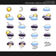 Icons. Weather style collection - GraphicRiver Item for Sale