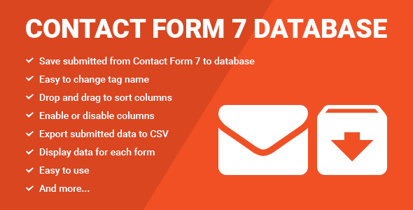 Contact Form Seven CF7 Database   CodeCanyon Item For Sale