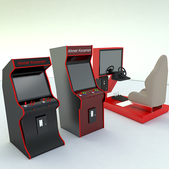 Commercial arcade machine - 3DOcean Item for Sale