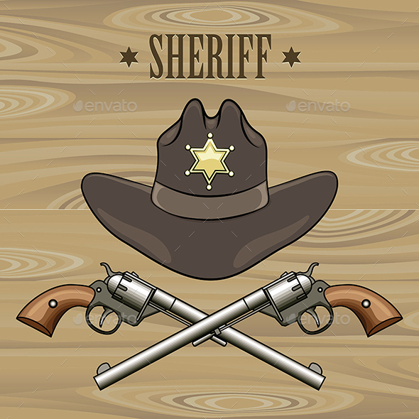 Sheriff Emblem - Objects Vectors