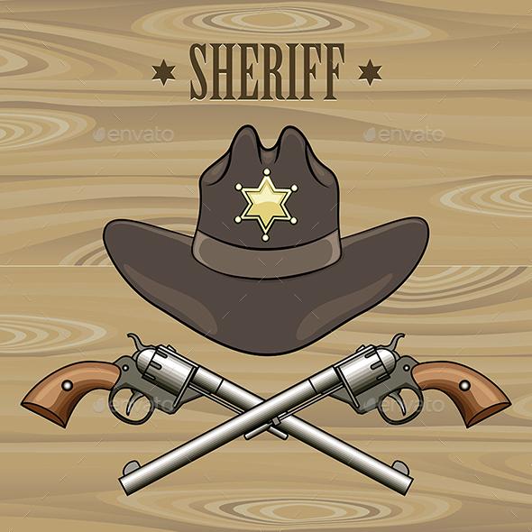 Sheriff Emblem - Objects Vectors