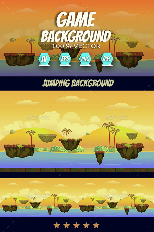Game Asset Jump Background - Backgrounds Game Assets