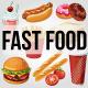 Fast Food Item Set - GraphicRiver Item for Sale