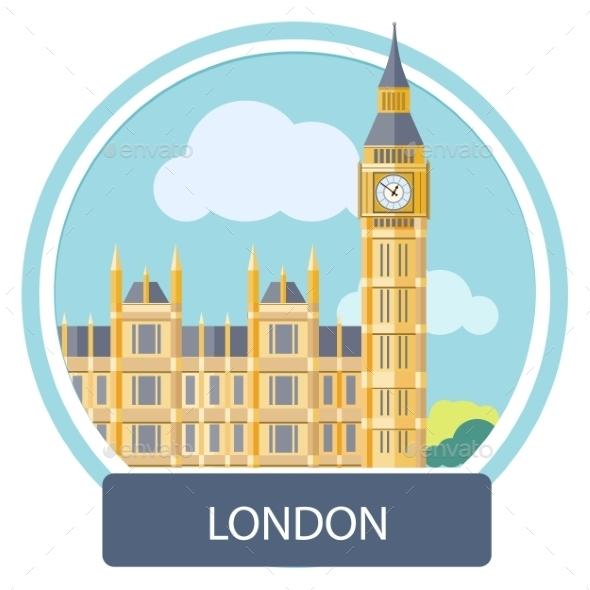 Big Ben And Westminster Bridge , London, UK - Buildings Objects