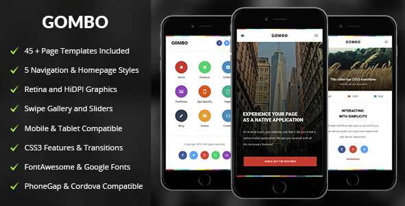 Gombo Mobile | Mobile Template - Mobile Site Templates