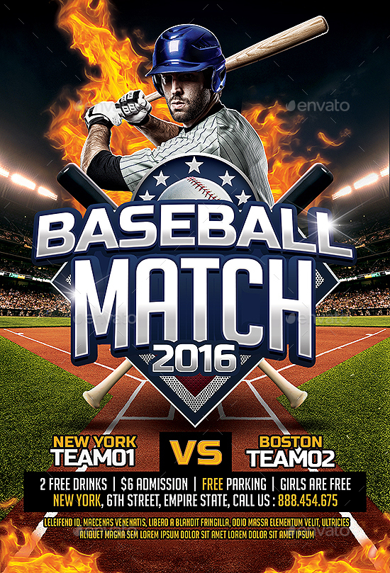 Baseball Flyer Baseball League Series Flyer Psd Template Baseball