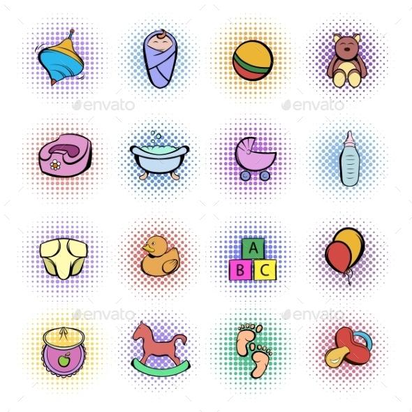 Baby Comics Icon Set - Miscellaneous Icons