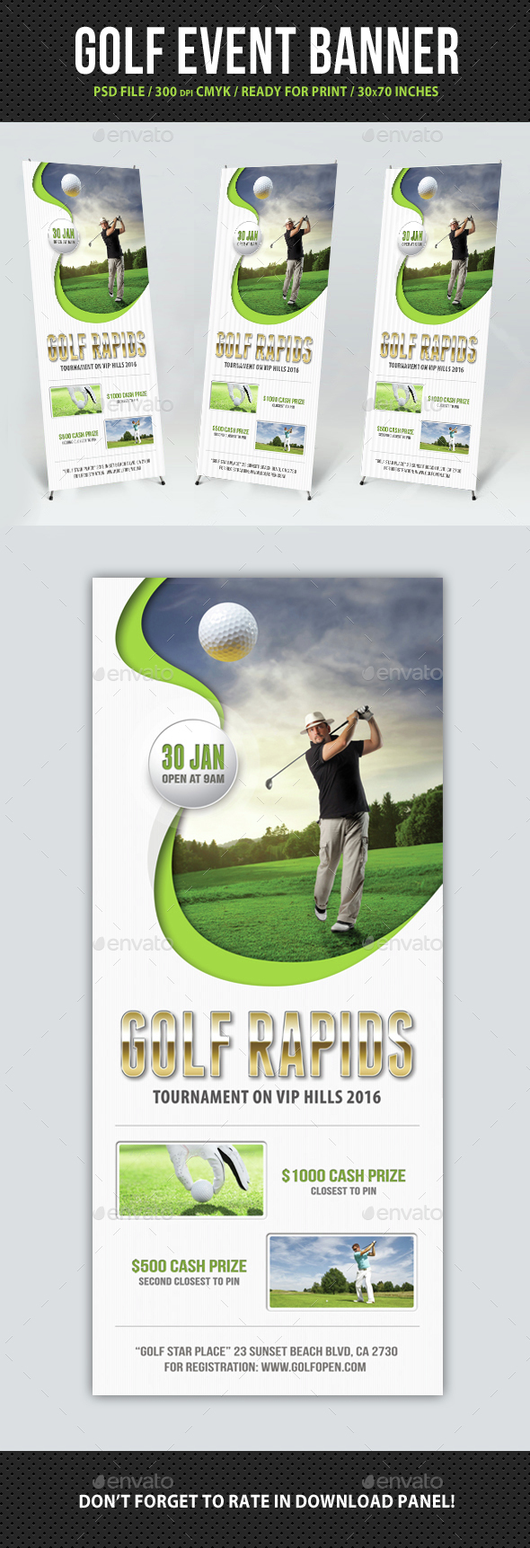 Golf Event Banner Template 05 - Signage Print Templates
