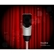 Microphone Against Curtain Backdrop - GraphicRiver Item for Sale