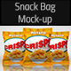 Snack Bag Realistic Mock-up - GraphicRiver Item for Sale