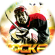 Hockey 2K16 Game Sports Flyer