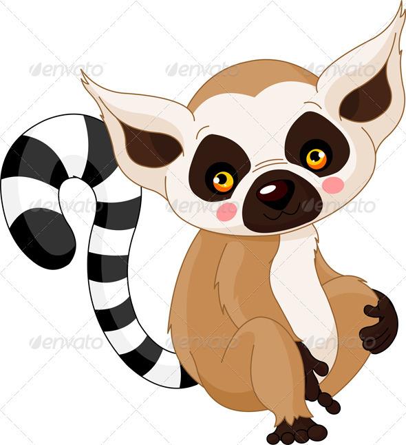 Fun zoo. Lemur - Animals Characters