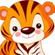 Fun zoo. Tiger - GraphicRiver Item for Sale