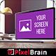 Realistic Laptop Screen Mockup Design - 7 PSD