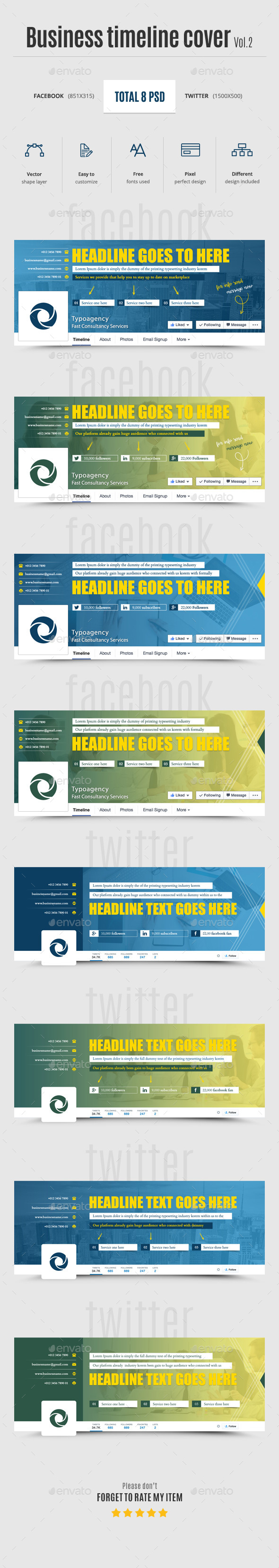 Business Timeline Cover Vol.2 - Social Media Web Elements