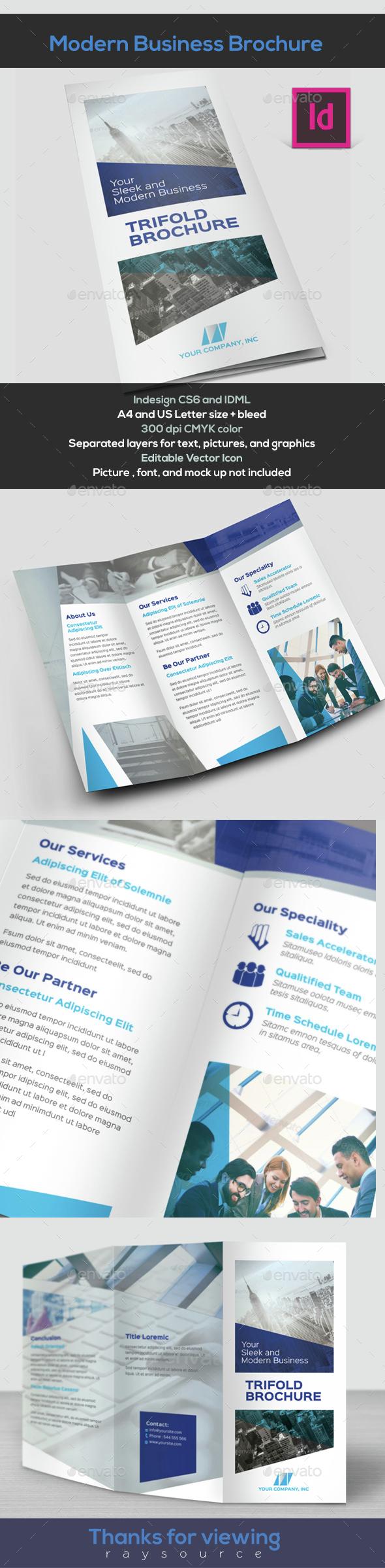 Modern Brochure Trifold - Brochures Print Templates