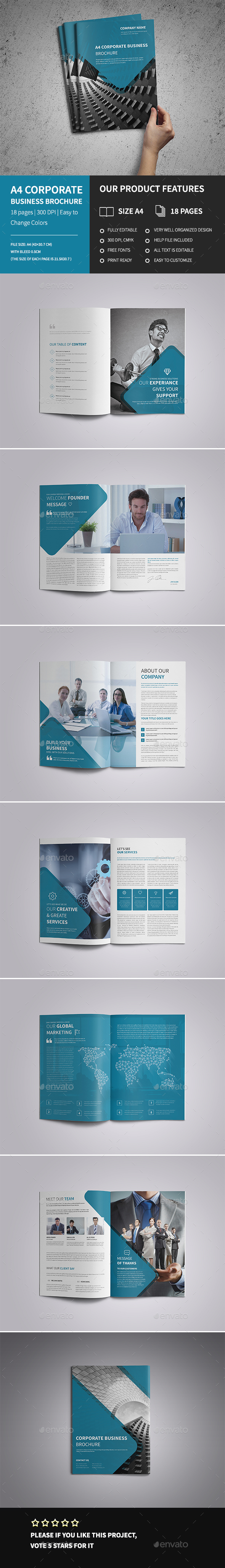 A4 Corporate Business Brochure  - Corporate Brochures
