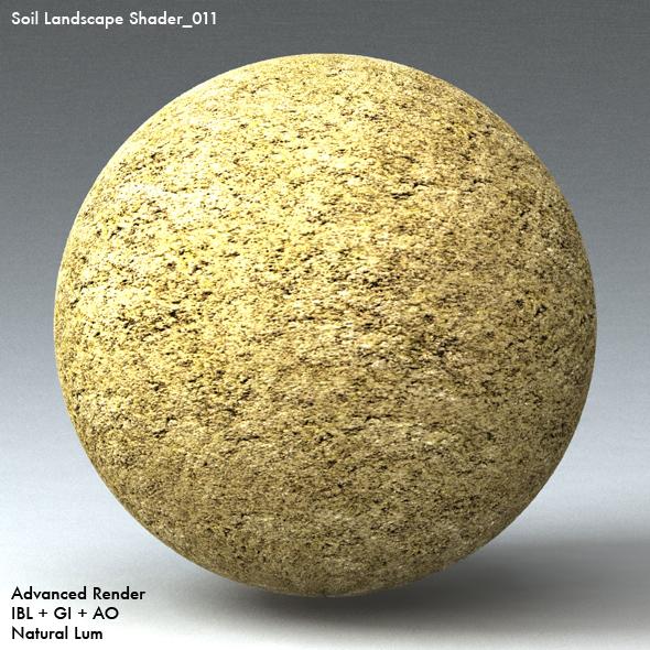 Soil Landscape Shader_011 - 3DOcean Item for Sale