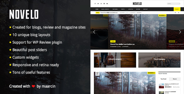 Novelo – Responsive WordPress Blog Theme