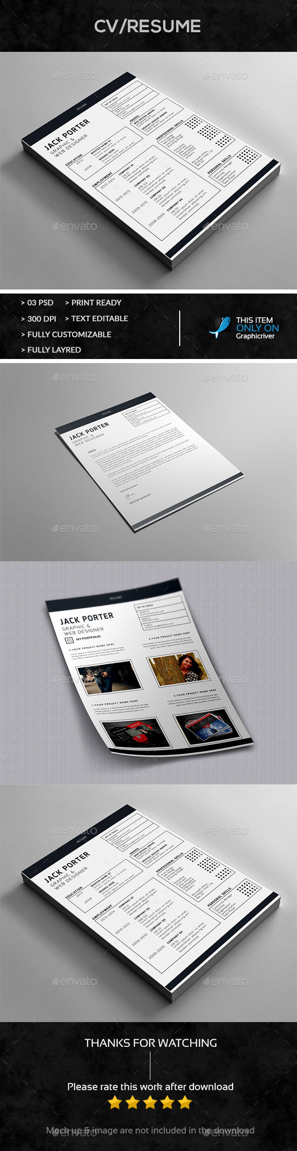 Resume+Cover Letter Design - Resumes Stationery
