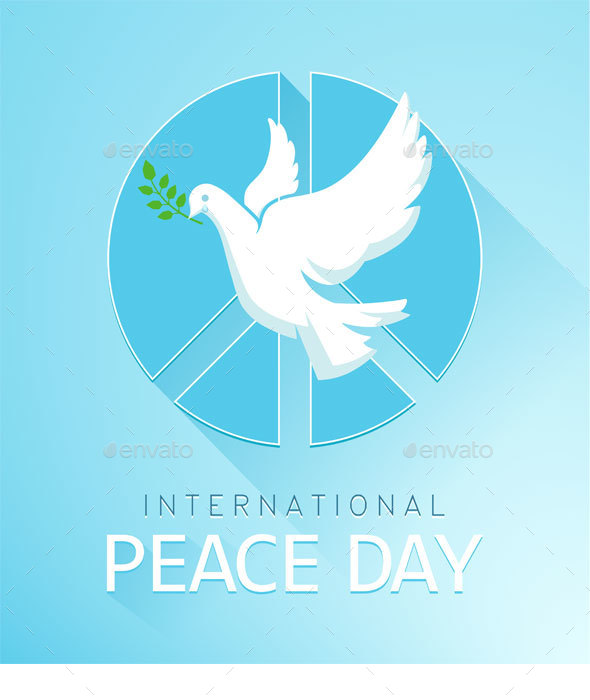 Dove of Peace with Olive Branch and a Peace Sign - Miscellaneous Seasons/Holidays