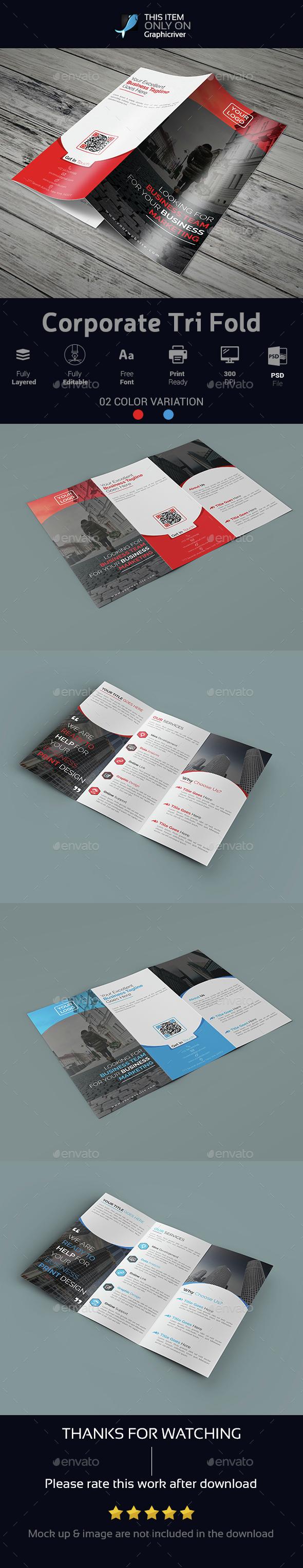 Corporate Tri Fold 01 - Brochures Print Templates