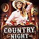 Country Night Flyer Template v2 - GraphicRiver Item for Sale