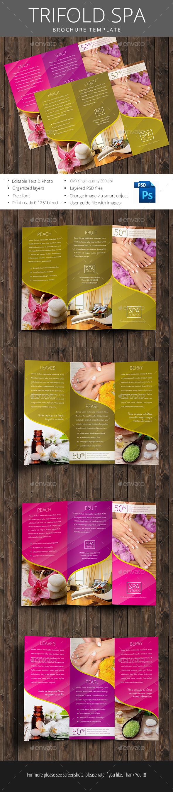 Spa Trifold Brochure - Brochures Print Templates
