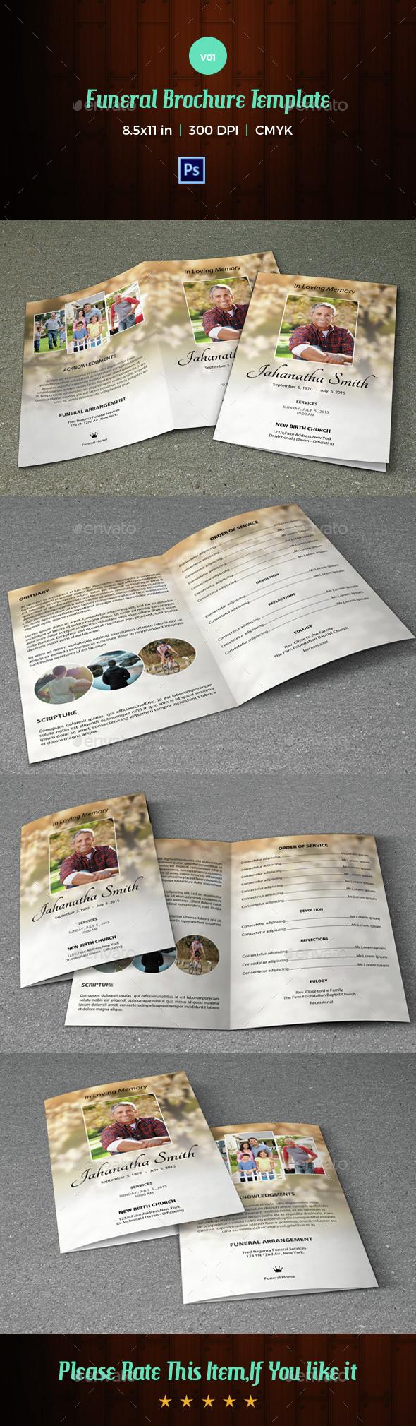 Funeral Program Template-V01 - Informational Brochures