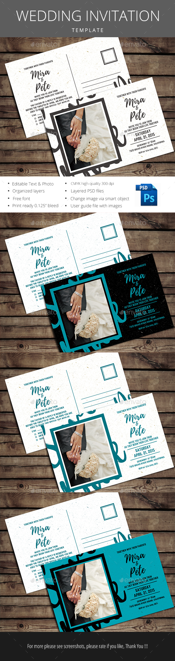 Simple wedding Invitation - Invitations Cards & Invites