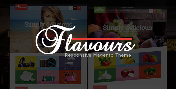 Flavours - Fruit Store, Fashion Store Responsive Magento Theme - Shopping Magento