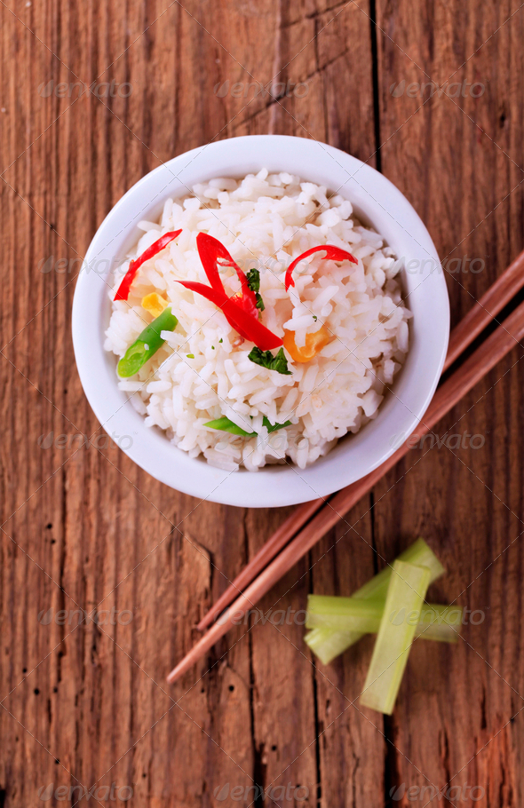 Bowl of rice - Stock Photo - Images