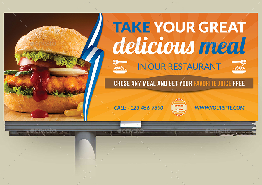 Restaurant Advertising Bundle Template Vol.8 by OWPictures ...