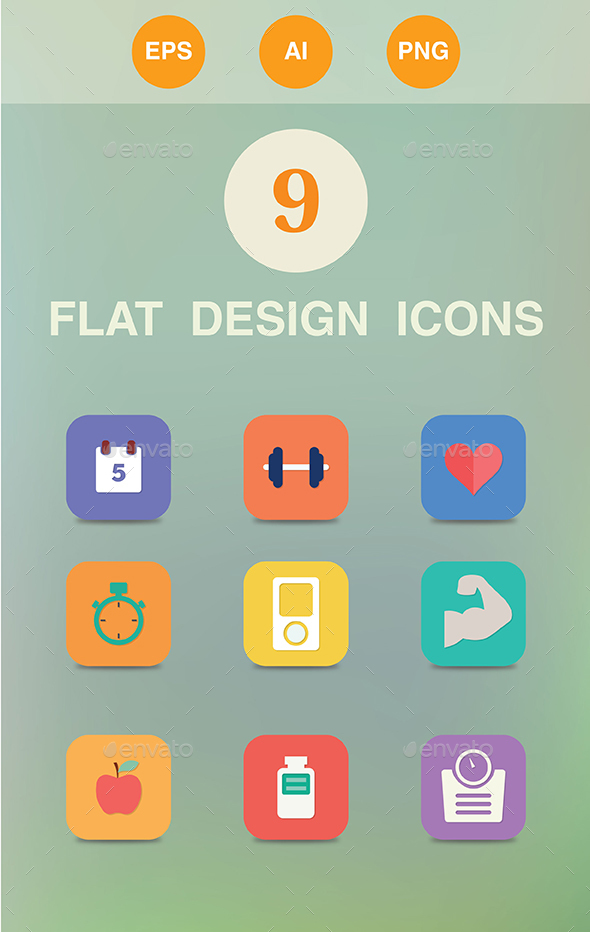 9 Health Icons - Web Icons