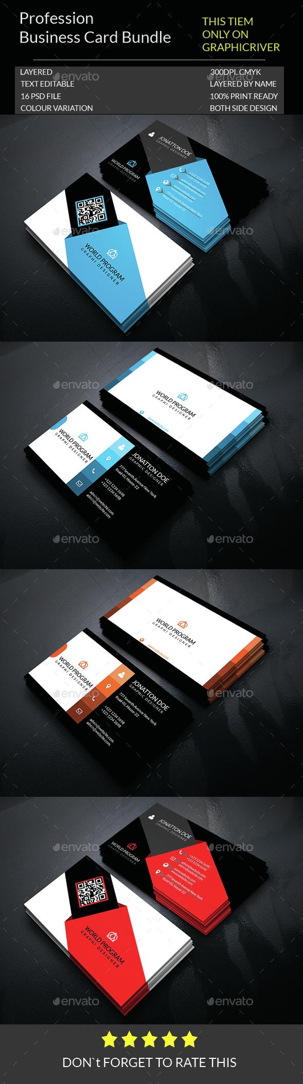 Profession Business Card Bundle.005 - Business Cards Print Templates