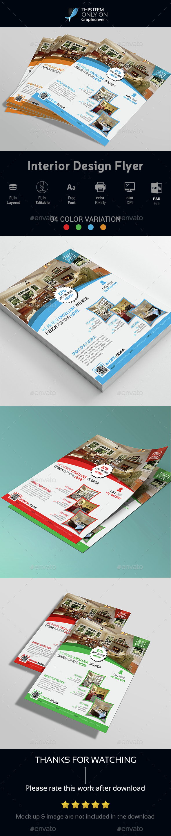 Real Estate Corporate Flyer - Cards & Invites Print Templates