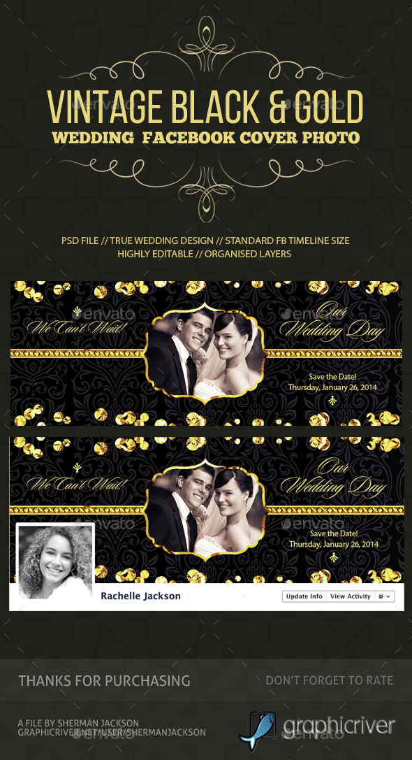 Wedding/Save the Date Facebook Cover Photo - Facebook Timeline Covers Social Media