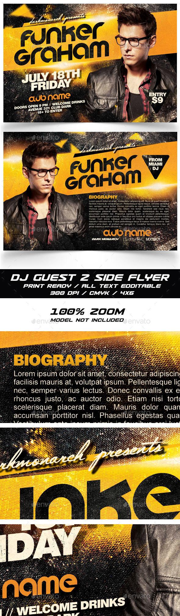 Dj Guest Flyer - Clubs & Parties Events