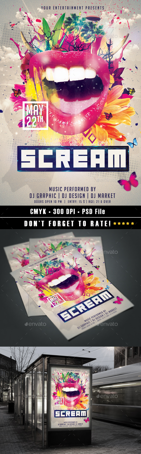 Scream Flyer - Events Flyers
